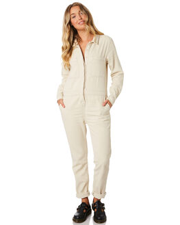 DIRTY WHITE WOMENS CLOTHING THRILLS PLAYSUITS + OVERALLS - WTDP-927ADWHT