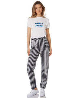 NAVY WHITE WOMENS CLOTHING ROLLAS PANTS - 12929-414