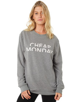 GREY WOMENS CLOTHING CHEAP MONDAY JUMPERS - 0543923GREY