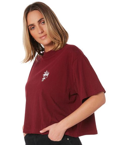 GRAPEVINE WOMENS CLOTHING STUSSY TEES - ST106011GRAPE