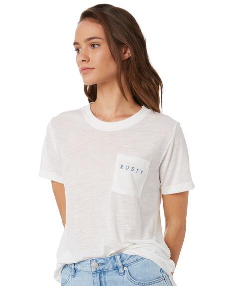 BRIGHT WHITE WOMENS CLOTHING RUSTY TEES - TTL1063BTW
