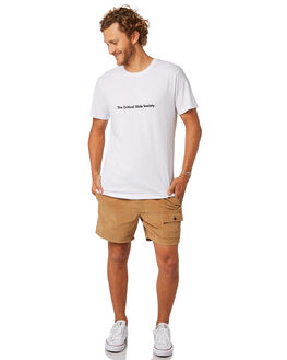 WHITE MENS CLOTHING THE CRITICAL SLIDE SOCIETY TEES - TE1856WHT