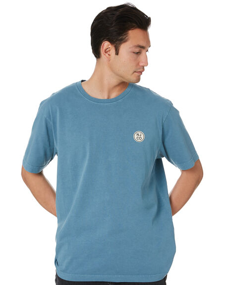 PETROL BLUE MENS CLOTHING NUDIE JEANS CO TEES - 131680P11
