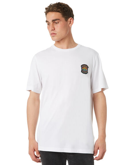 WHITE OUTLET MENS RVCA TEES - R182044WHT