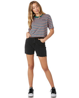 MULTI STRIPE WOMENS CLOTHING WRANGLER TEES - W-951497-772