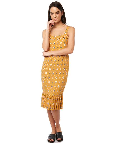 MUSTARD WOMENS CLOTHING TIGERLILY DRESSES - T381421MUS