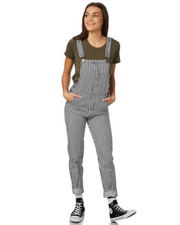BLACK WHITE WOMENS CLOTHING AFENDS PLAYSUITS + OVERALLS - W181883BLKWH