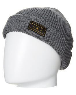 GREY MARLE MENS ACCESSORIES AFENDS HEADWEAR - 13-06-030GRY
