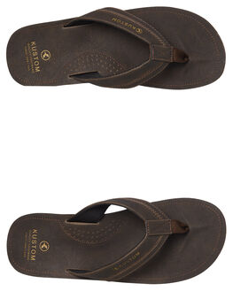 CHOCOLATE MENS FOOTWEAR KUSTOM THONGS - 4984201CHOC