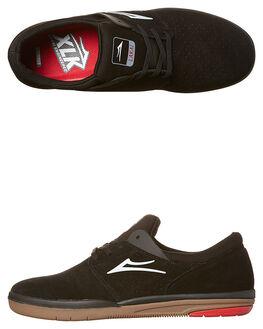 BLACK GUM MENS FOOTWEAR LAKAI SKATE SHOES - MS1170244BBLK
