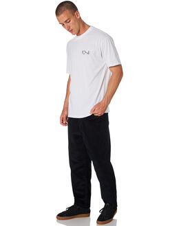 BLACK MENS CLOTHING POLAR SKATE CO. PANTS - PSC-93CORD-BLK