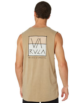 DUST YELLOW MENS CLOTHING RVCA SINGLETS - R182015DSTYL