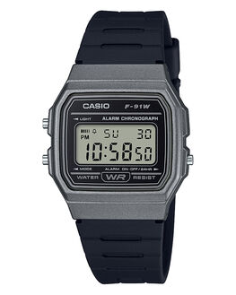 GREY BLACK MENS ACCESSORIES CASIO WATCHES - F91WM-1BGBLK