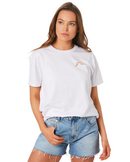 ?WHITE WOMENS CLOTHING RUSTY TEES - TTL1070WHT