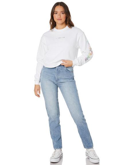 BRIGHT WHITE WOMENS CLOTHING CALVIN KLEIN HOODIES + SWEATS - J20J217205YAF