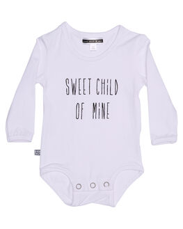 WHITE KIDS BABY SWEET CHILD OF MINE CLOTHING - LSSWEETCHILDONSWHT