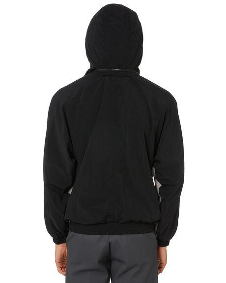 BLACK MENS CLOTHING HUF JACKETS - JK00288-BLACK