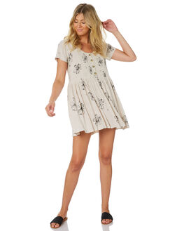 NATURAL WOMENS CLOTHING RIP CURL DRESSES - GDRIX10031