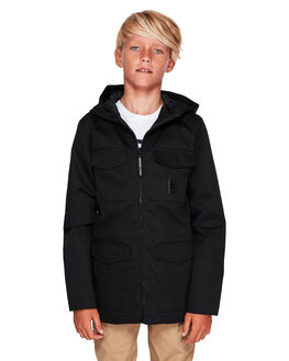 BLACK KIDS BOYS DC SHOES JUMPERS + JACKETS - EDBJK03040-KVJ0