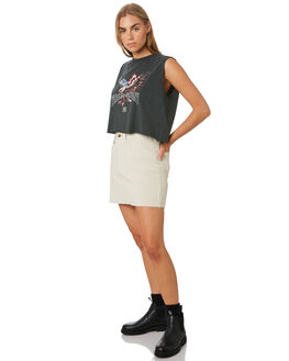 DIRTY WHITE WOMENS CLOTHING THRILLS SKIRTS - WTR9-301ADRTWT