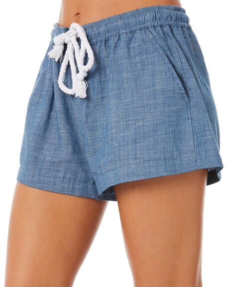 CHAMBRAY BLUE OUTLET WOMENS ELWOOD SHORTS - W83606CHBLUE