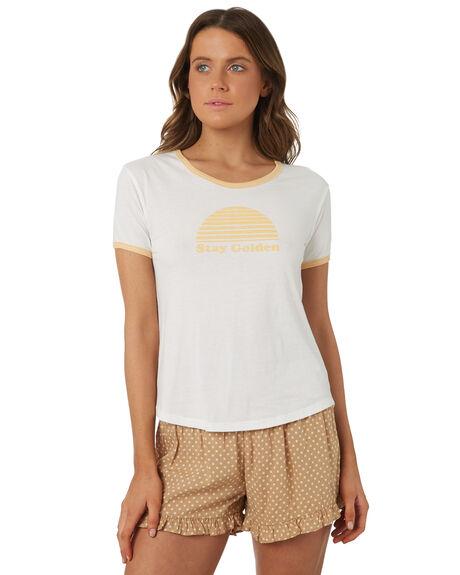 WHITE WOMENS CLOTHING RHYTHM TEES - OCT18W-PT01WHT