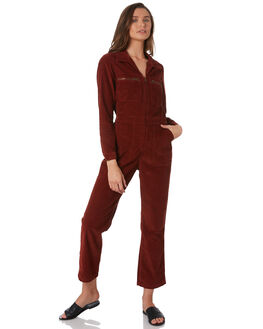 RUST RED WOMENS CLOTHING WRANGLER PLAYSUITS + OVERALLS - W-951438-P97