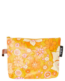 RETRO MUSTARD FLORAL WOMENS ACCESSORIES KOLLAB BAGS + BACKPACKS - P-CLU-RMF