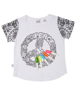 BLANK KIDS TODDLER GIRLS KISSED BY RADICOOL TEES - KR0426BLNK