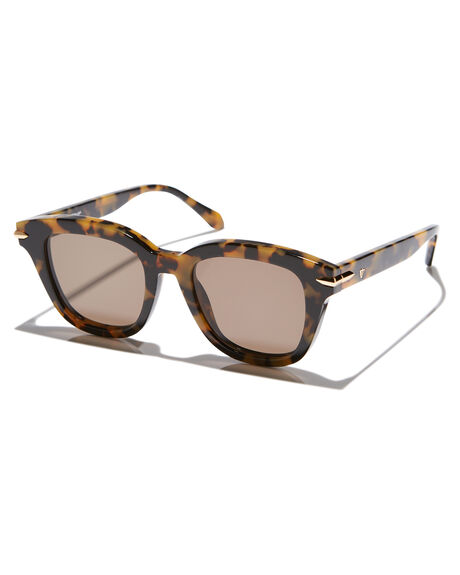 YELLOW TORT GOLD WOMENS ACCESSORIES VALLEY SUNGLASSES - S0368YELTR