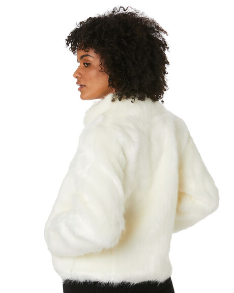 IVORY WOMENS CLOTHING UNREAL FUR JACKETS - URF6000015-IVOVIVR