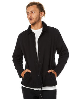 BLACK MENS CLOTHING SWELL JACKETS - S5173381BLK