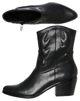 BLACK WOMENS FOOTWEAR THERAPY BOOTS - 10068BLK
