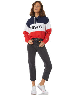 PEACOAT WHITE RED WOMENS CLOTHING LEVI'S JUMPERS - 59322-0000CRED