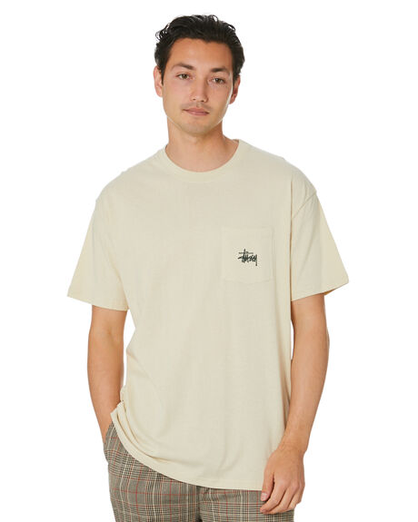 WARMED WHITE MENS CLOTHING STUSSY TEES - ST001012WRMWT