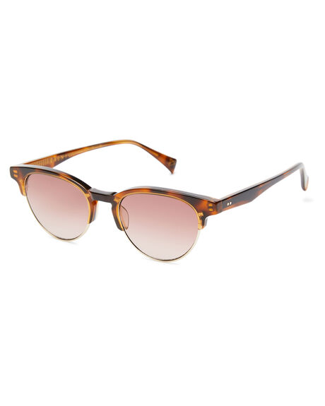 PECAN TORTOISE WOMENS ACCESSORIES RAEN SUNGLASSES - 100W201GETPEC