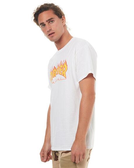 WHITE MENS CLOTHING THRASHER TEES - 20065193WHT