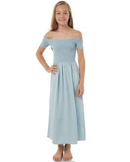 LIGHT BLUE KIDS GIRLS EVES SISTER DRESSES - 9900133LBLU