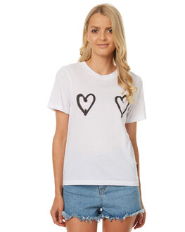 WHITE WOMENS CLOTHING CHEAP MONDAY TEES - 0442251WHT