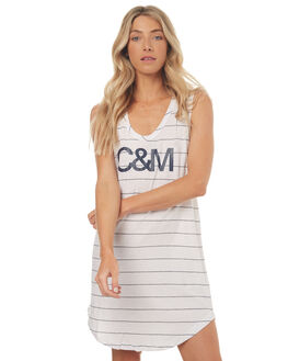 WHITE STRIPE WOMENS CLOTHING CAMILLA AND MARC DRESSES - QCMD1496WSTR
