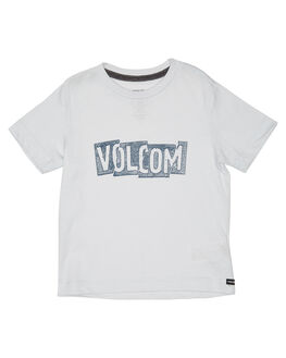 WHITE KIDS TODDLER BOYS VOLCOM TEES - Y5711802WHT