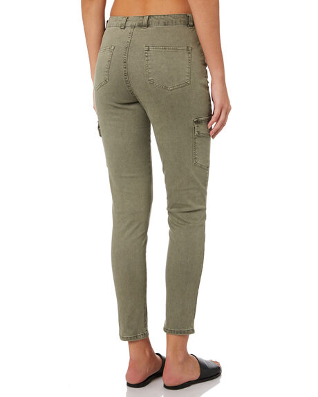 WASHED ARMY OUTLET WOMENS SWELL PANTS - S8189191WSHAY