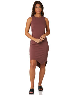 BURGUNDY WOMENS CLOTHING SILENT THEORY DRESSES - 6010028BURG