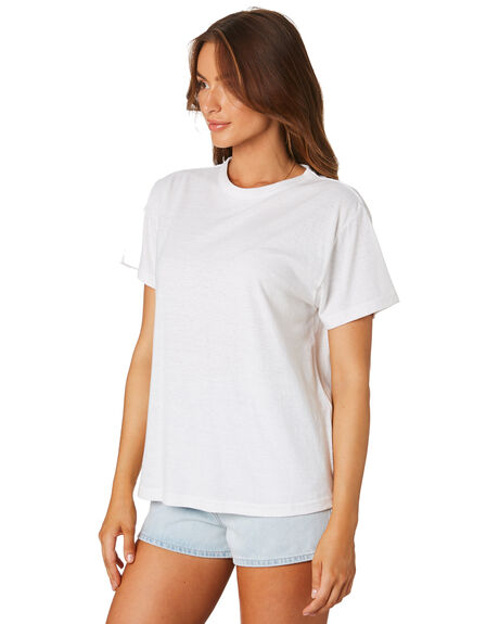 WHITE WOMENS CLOTHING ZULU AND ZEPHYR TEES - ZZ2461WHT