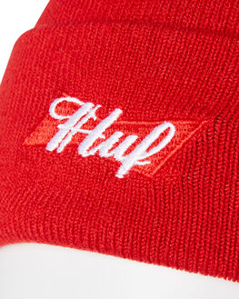 RED MENS ACCESSORIES HUF HEADWEAR - BN00063RED