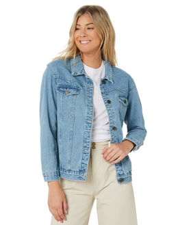 BLUE WASH WOMENS CLOTHING THE HIDDEN WAY JACKETS - H8183381BLUWS