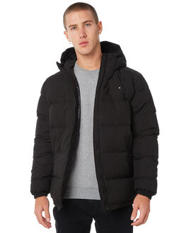 BLACK MENS CLOTHING HUFFER JACKETS - MDJA81S1401BLK