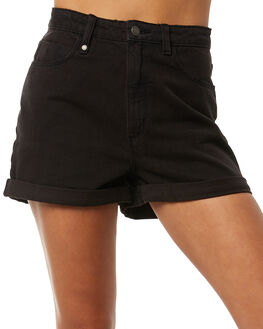 FADED BLACK WOMENS CLOTHING THRILLS SHORTS - WTDP-321FBFBLK