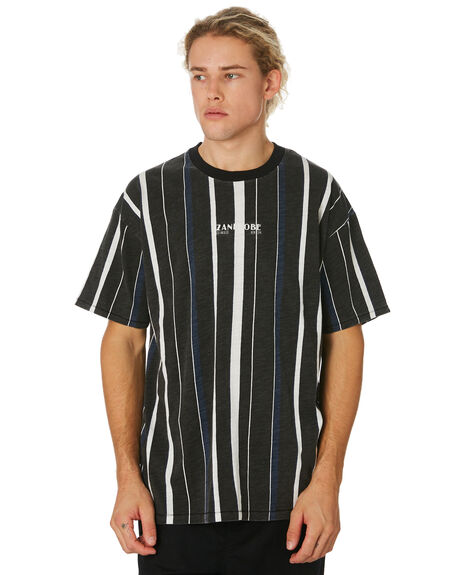 BLACK MILK MENS CLOTHING ZANEROBE TEES - 128-WORD-BLKMK