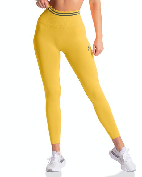 SUNNY YELLOW WOMENS CLOTHING DOYOUEVEN ACTIVEWEAR - F.09.XS
